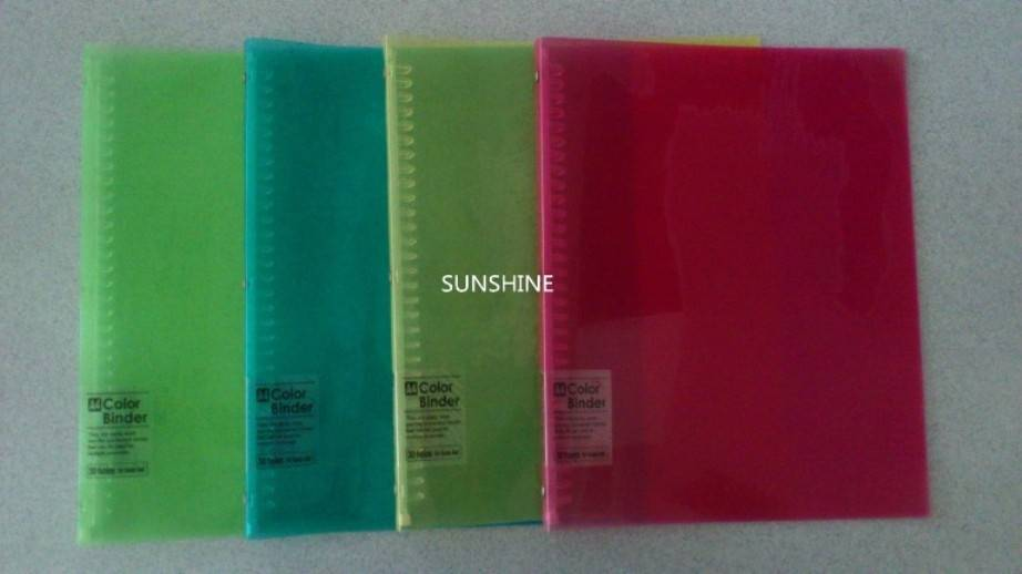 plastic PP products file folder