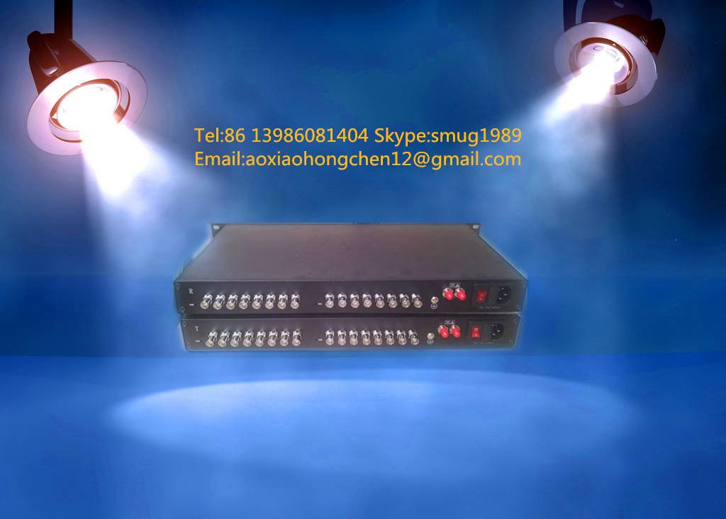 OEM 16CH HD/3G SDI to fiber converter,16CH SDI over 1 fiber extender for broadcast or CCTV system