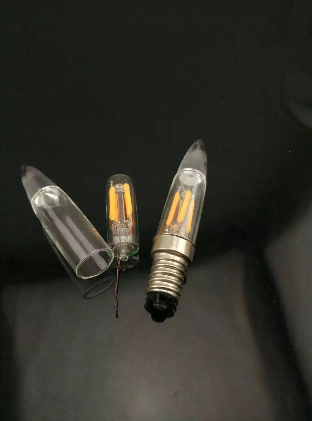 Torpedo candle led bulb 2W E14 bullet shape led bulb