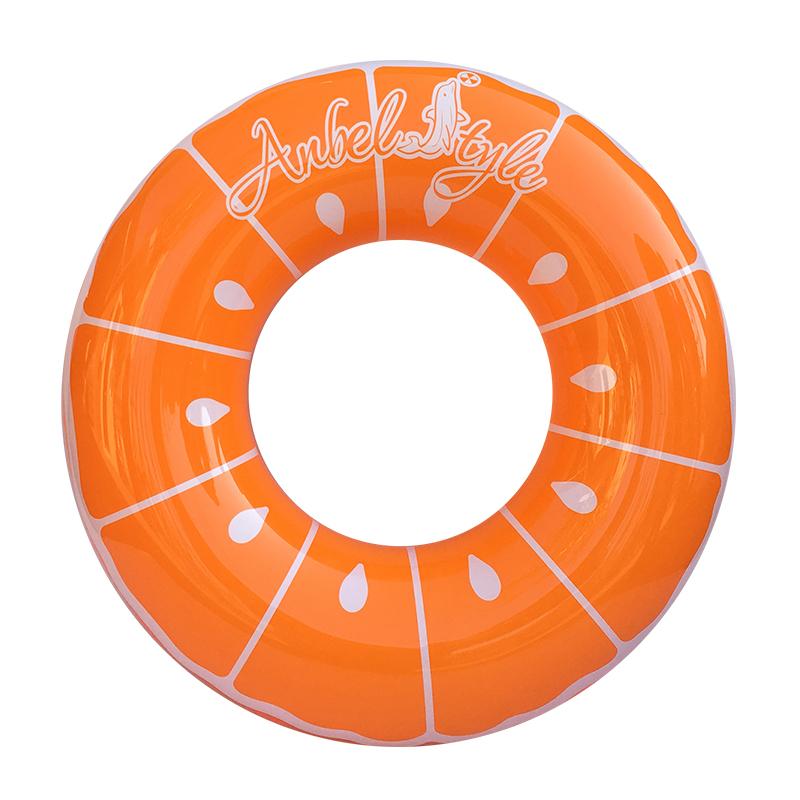Anbel Style Fruit Shape Orange Swim Ring Inflatable Pool Float