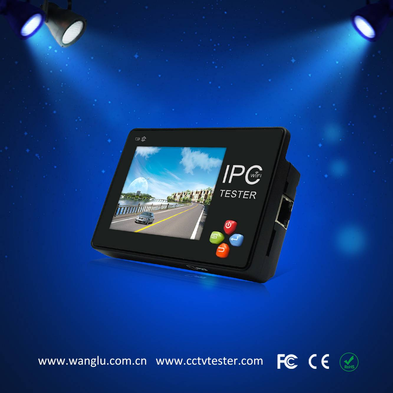 3.5 inch touch screen  wrist ip  camera tester IPC-1600