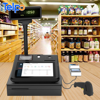 Telpo TPS520 10 inch Android Tablet POS with Thermal Printer Fingerprint Scanner and Barcode Reader