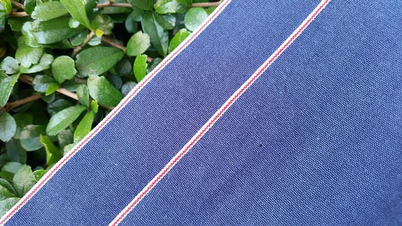 7.3oz Light weight selvedge chambray denim jeans garment fabric 040