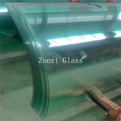 2015 Flat / Curved Safety Tempered Glass for Architectural