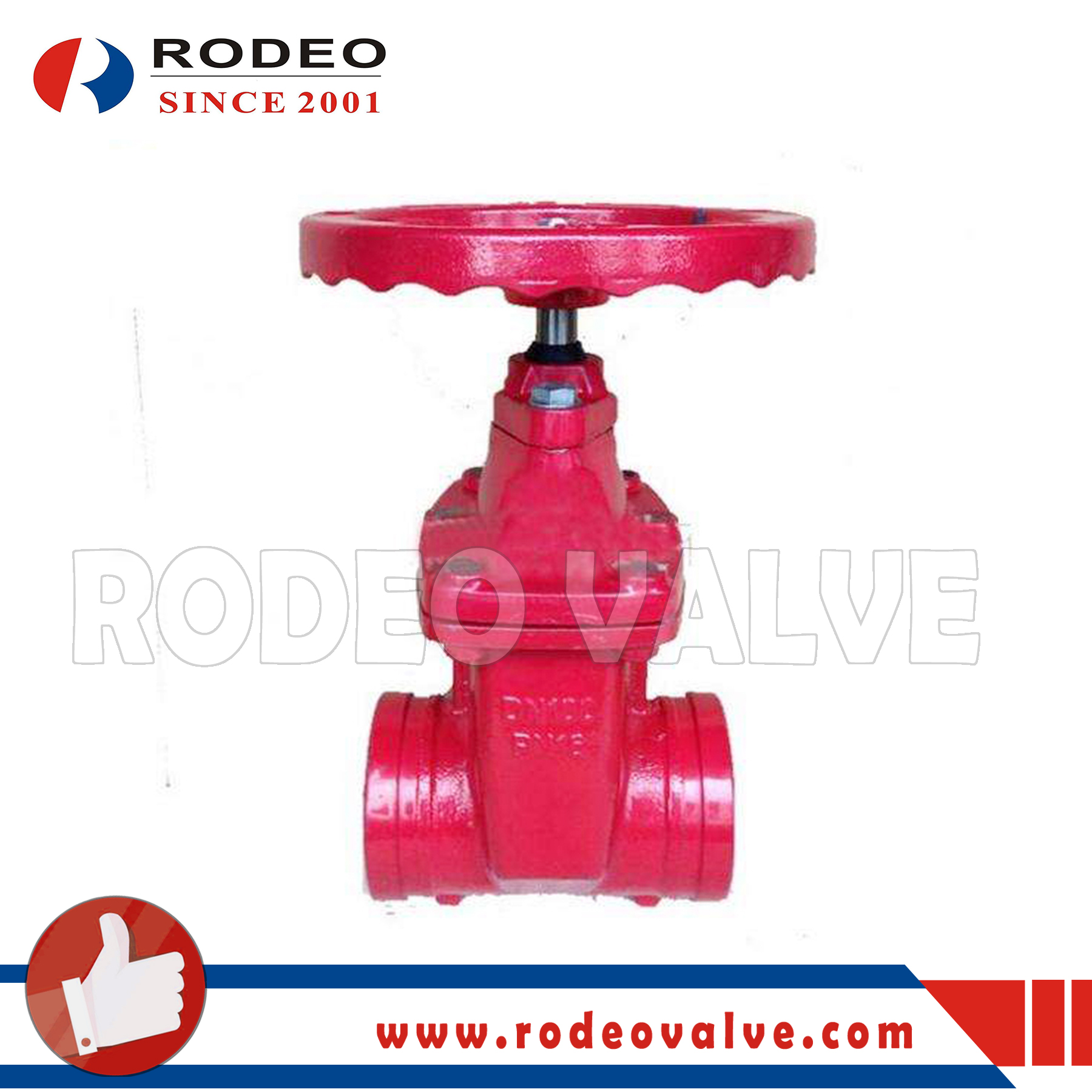 FM Approved Grooved Fire Fighting Gate Valve