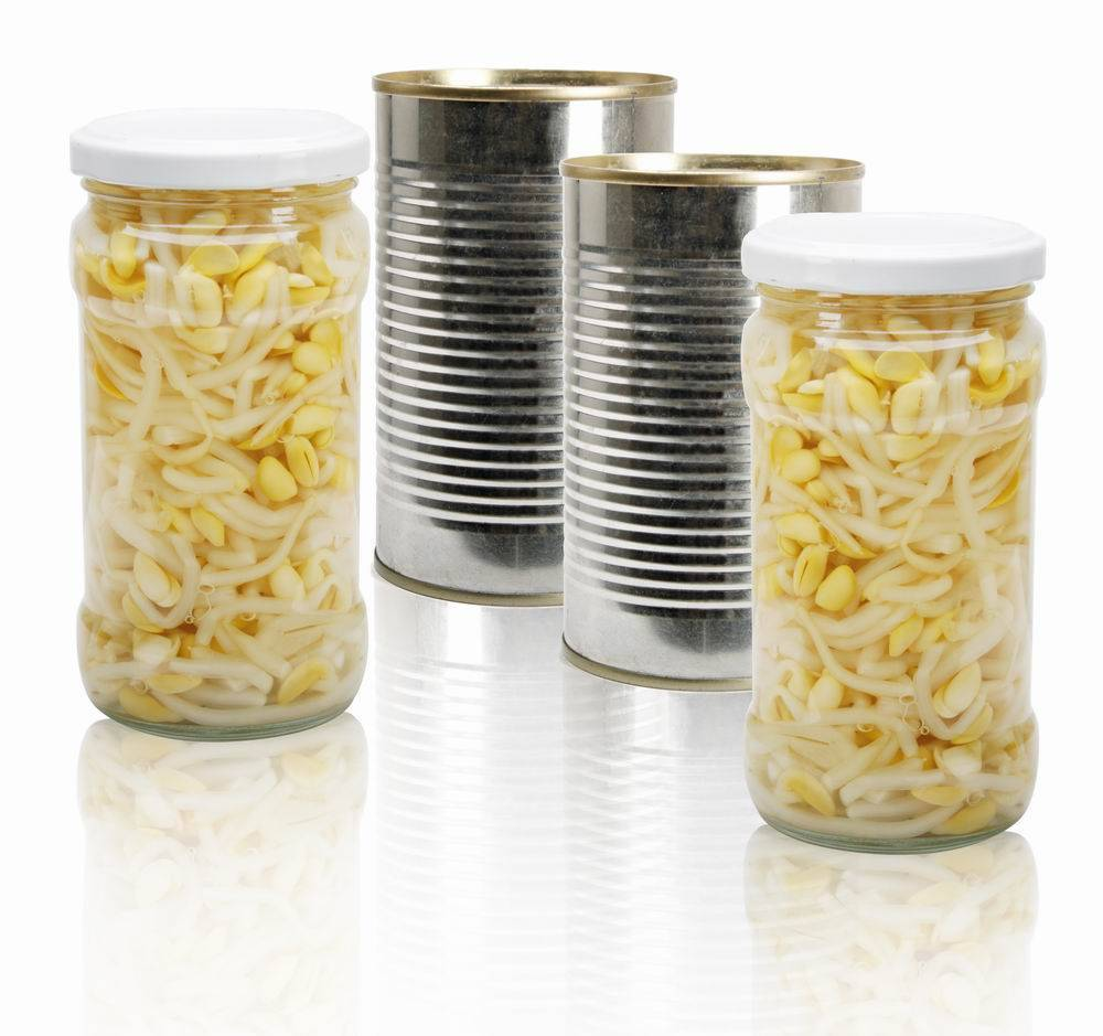 Canned bean sprouts