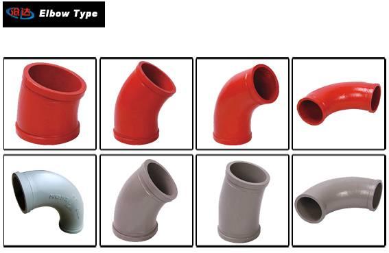 Putzmeister DN125 Manganese Concrete Pump Elbow