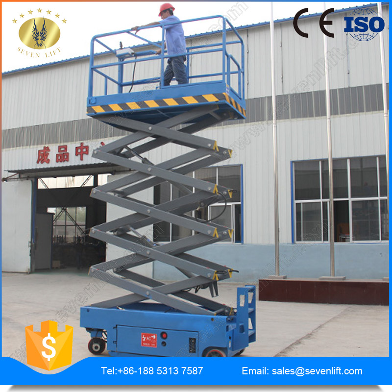 10m China self-propelled hydraulic electric scissor lift