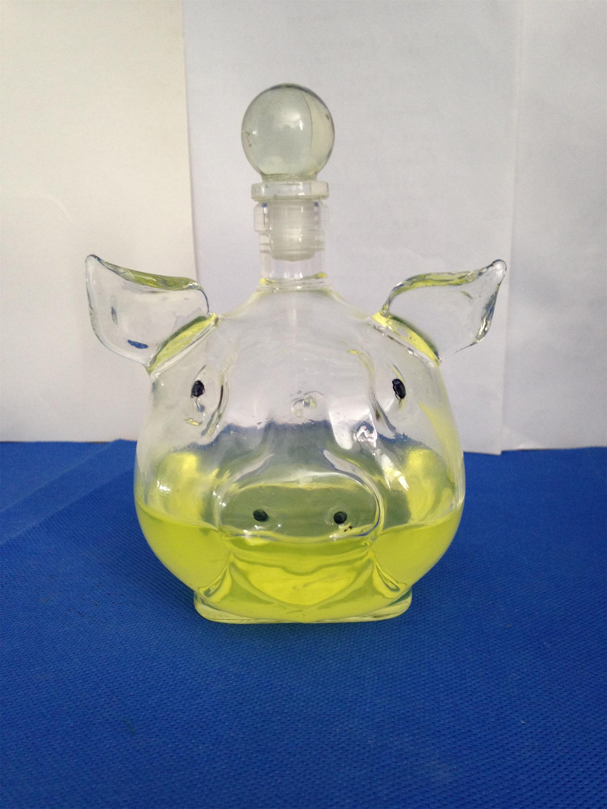 handmade wine bottle pig shape bottle white bottle