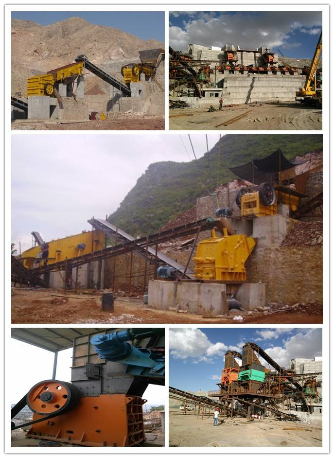 Mining impact crusher hammer machine with parts