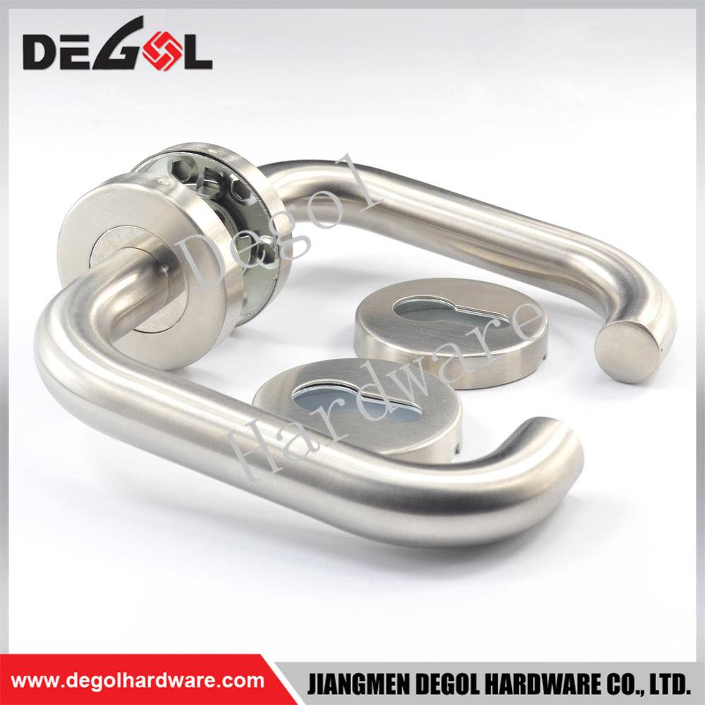 Chinese wholesale stainless steel tube lever type black door handles