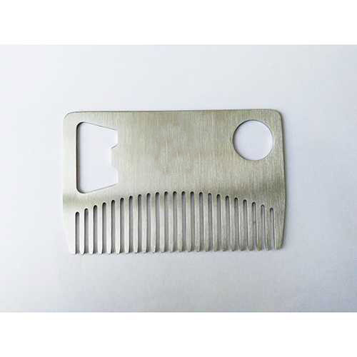 Coolest Grooming Suppliers Gents Stainless Steel Card Beard Comb Bottle Opener