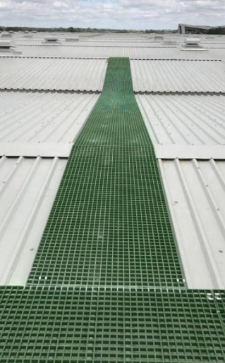 Anti-Slip Smooth Surface FRP Grating for Solar Electricity