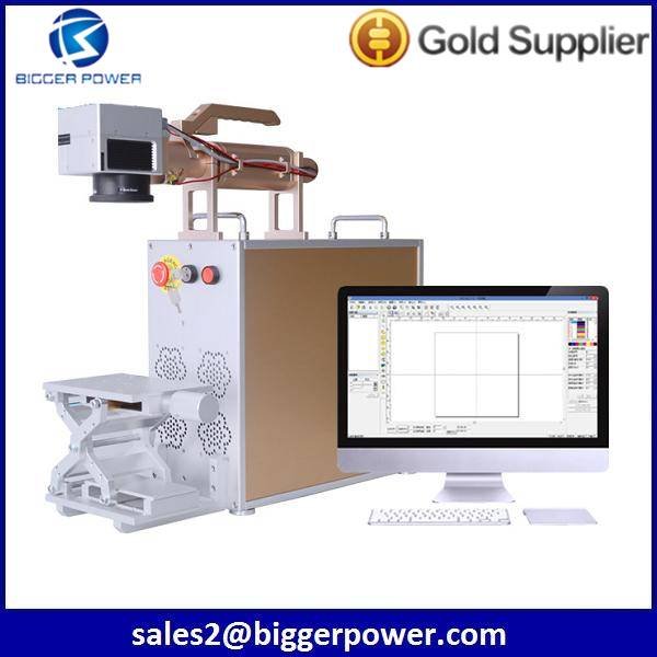 New premium Exported Mobile shell IMEI logo printer portable mini 20w fiber laser marking machine