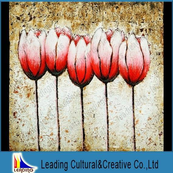 abstract flower oil painting design wall art