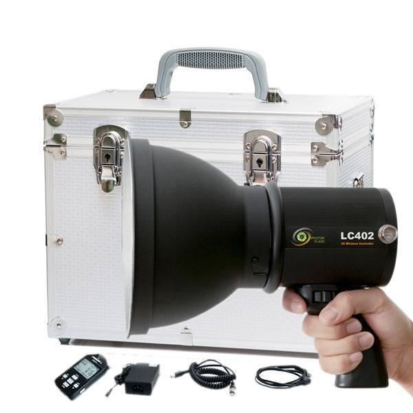 3G Remote Control Portable Photography Lighting With Battery, iPHOTON LC402 400W Photography Strobe