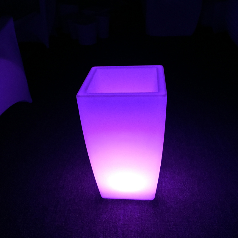 Garden Plastic Led Flower Pot Glowing Rechargeable
