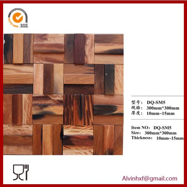 2014 Hot Sale Wood Mosaic for Home Wall Decoration