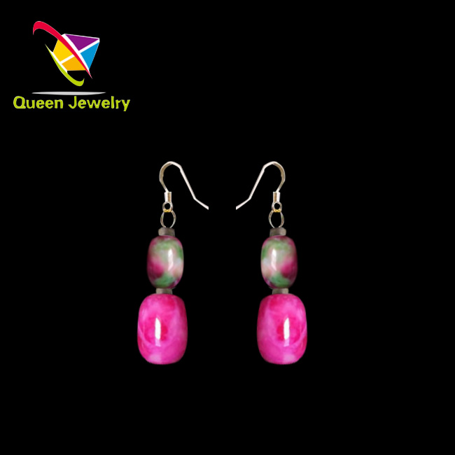 paparazzi jewelry wholesale handmade earring designs natural beautiful peach stone earring for girl