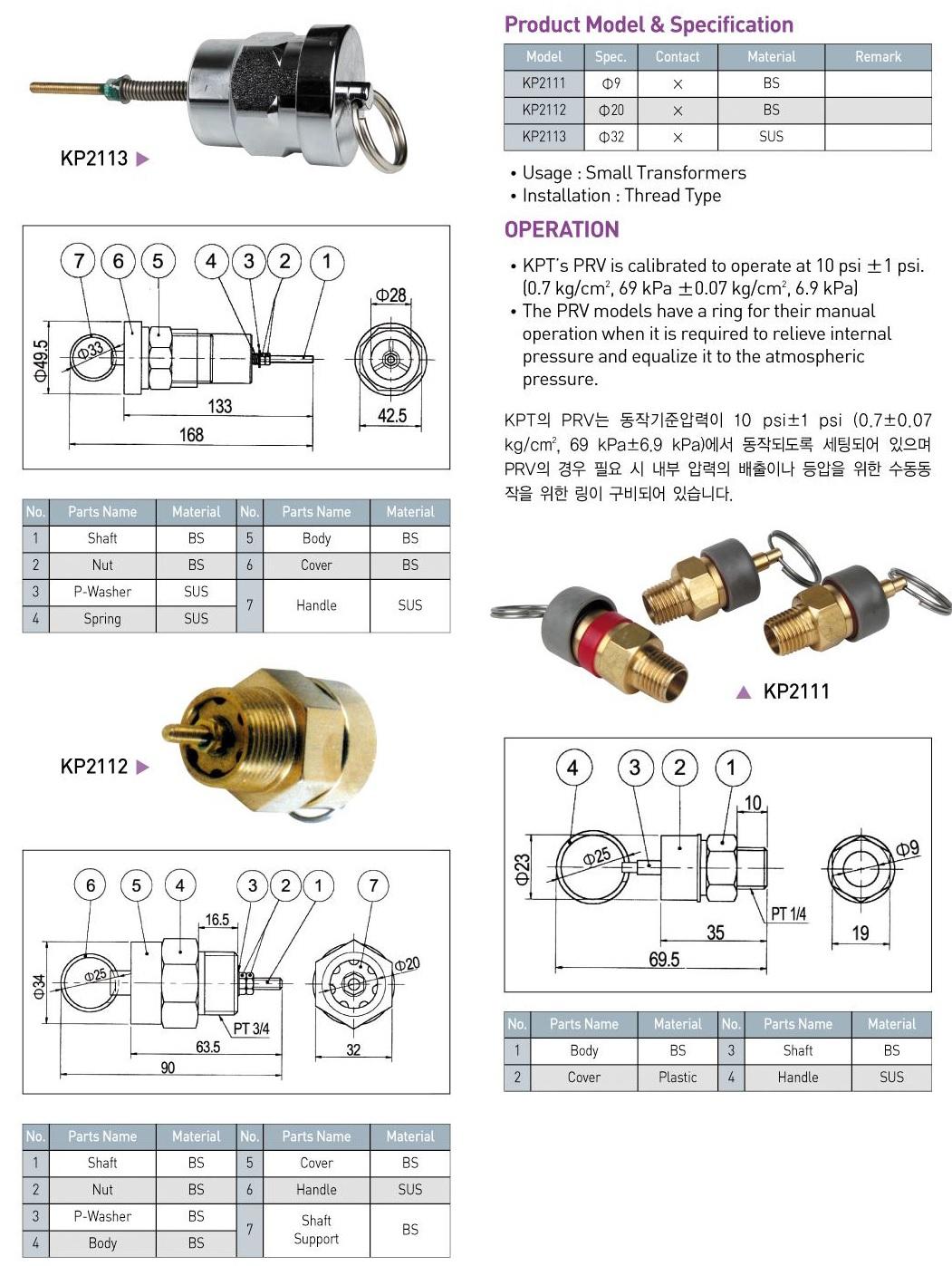 Transformer Pressure Relief Valve(PRV)