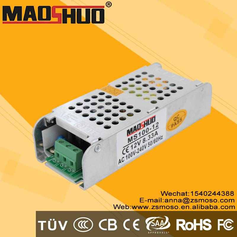 smps 12v DC12V 8.3A 100W led lighting power supply with CE CB FCC RoHS high quality