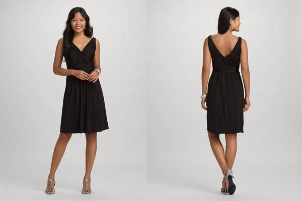 Stylish ladies black knee lenth cocktail dress