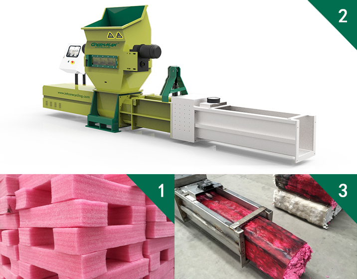GREENMAX PE foam densifier Z-C100 for sale
