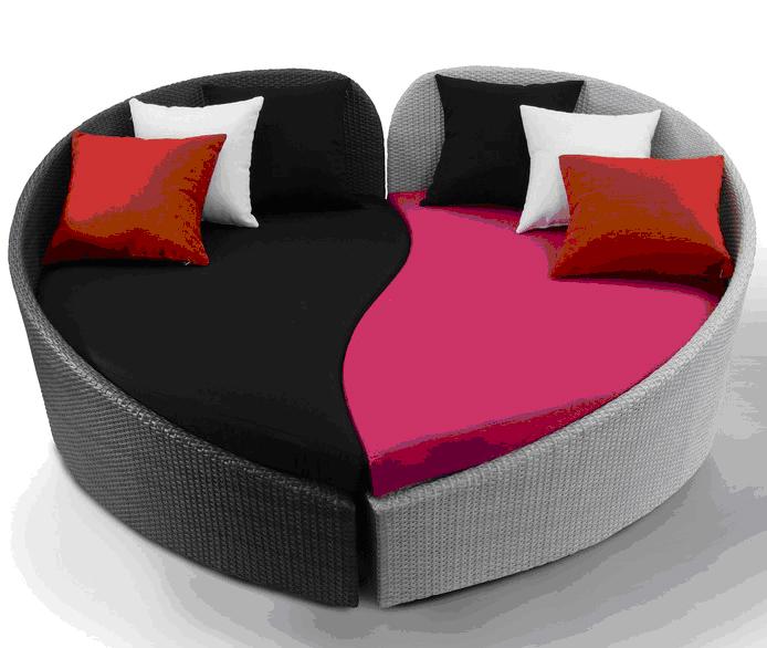 Poly rattan sofa set