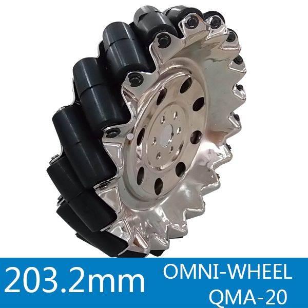 203.2mm steel omni mecanum wheel QMA-20
