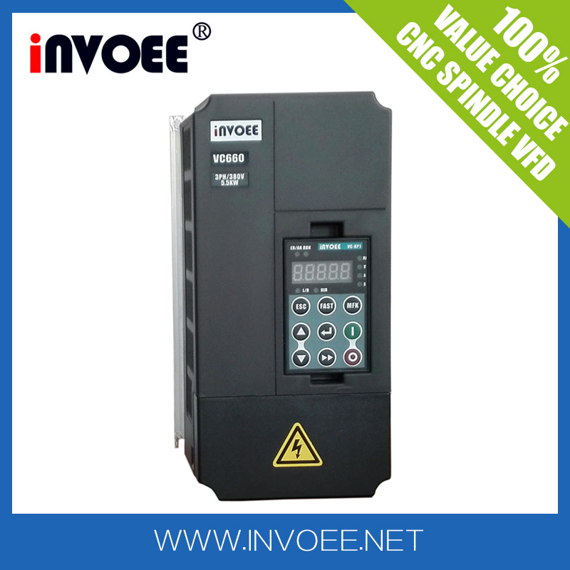 VC660 5.5kw CNC Vector variable frequency drive VFD