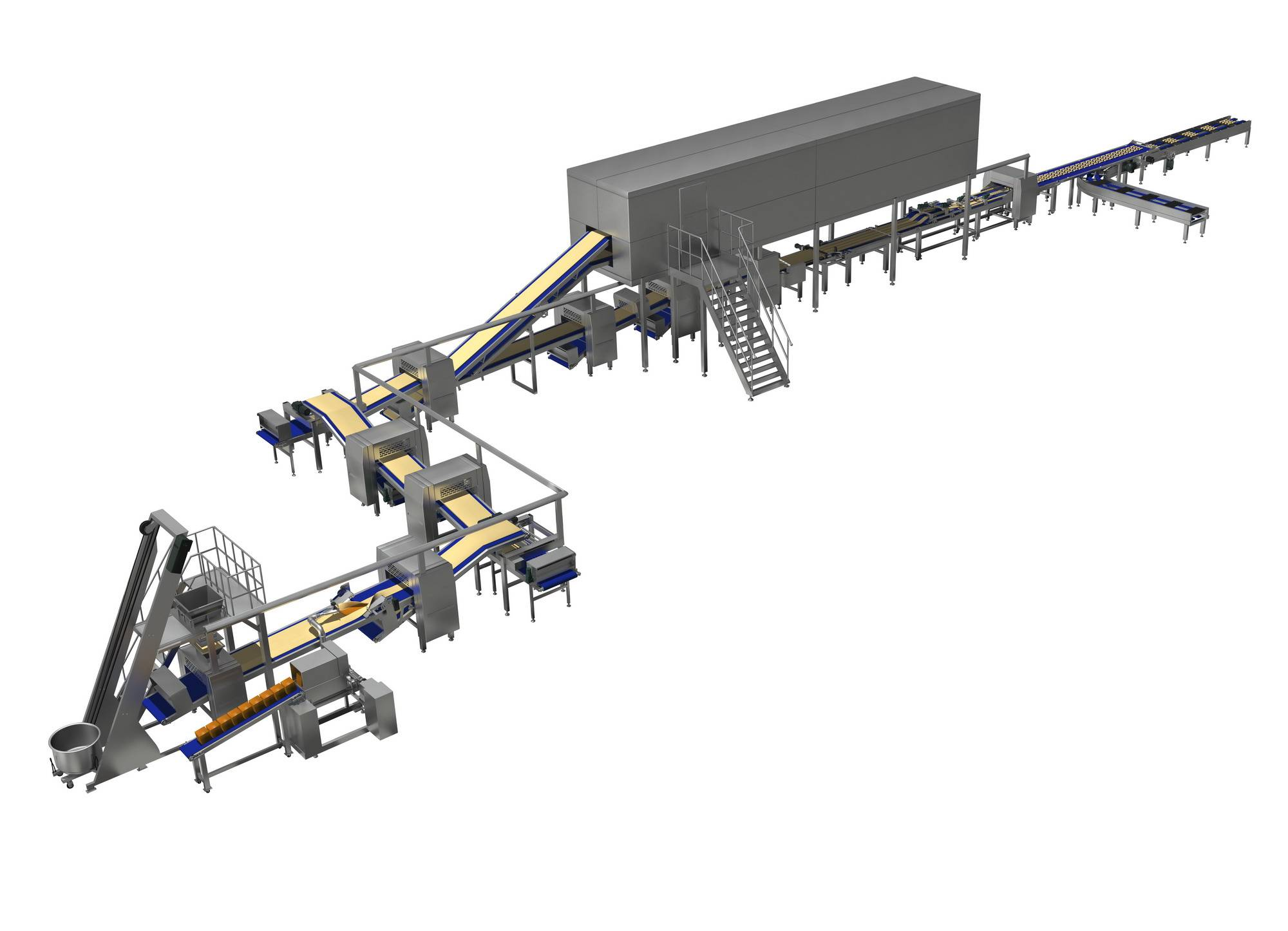 Automatic Danish pastry forming line