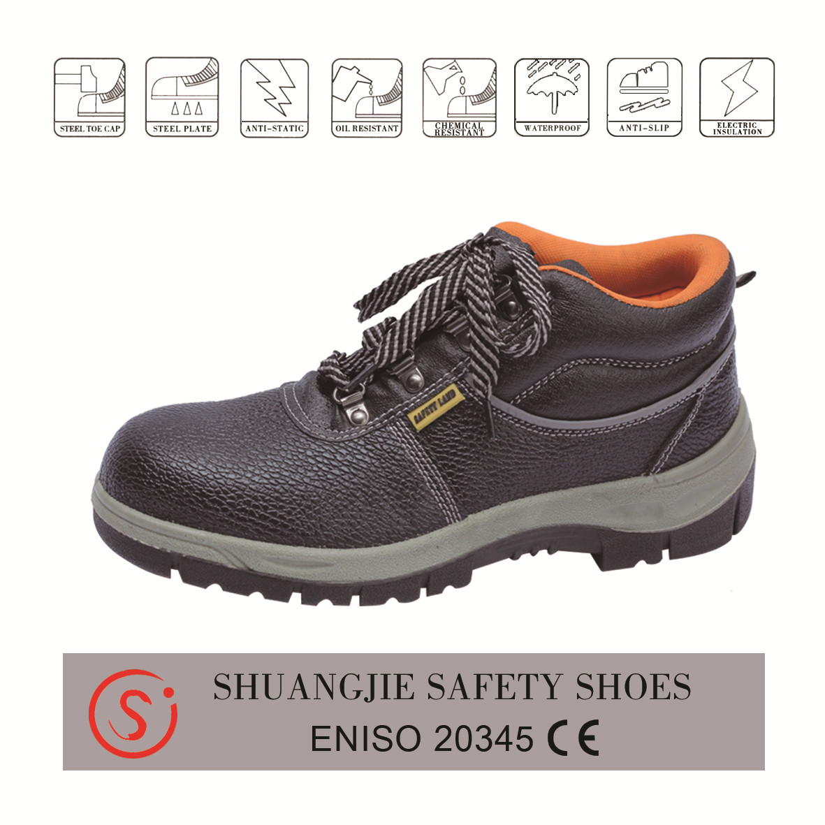 safety shoes work boots 9005 embossed leather pu outsole