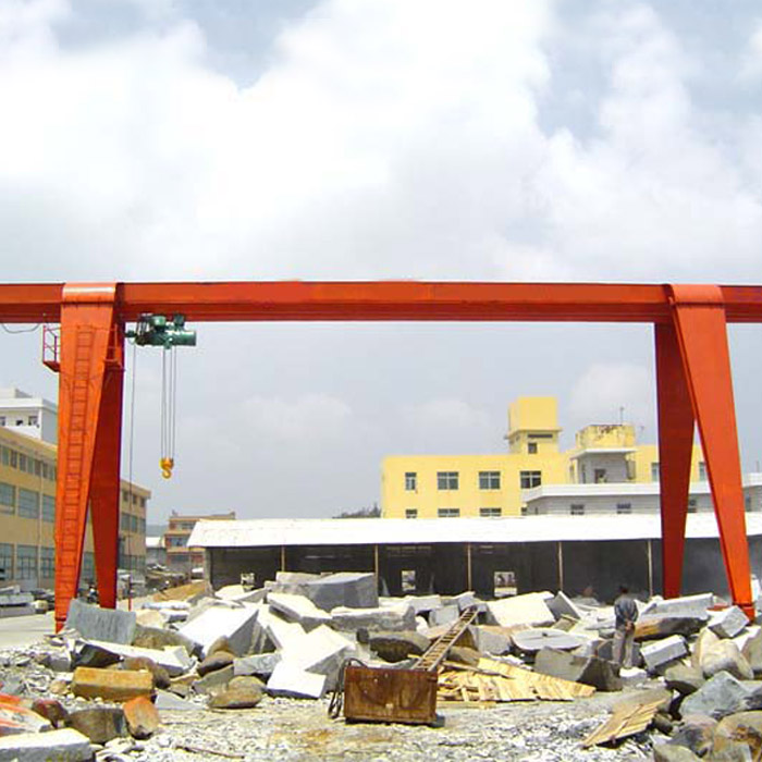 Single beam portal crane with CD electric hoist used in warehouse or outdoor