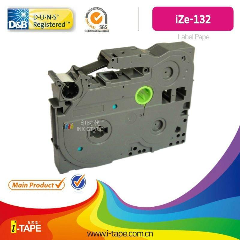 TZe-132(Length:10M)TZe tape for Brother P-touch label tape Printer