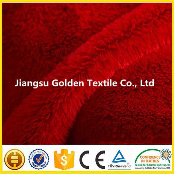 China manufacturer 100% polyester long plush fur fabric