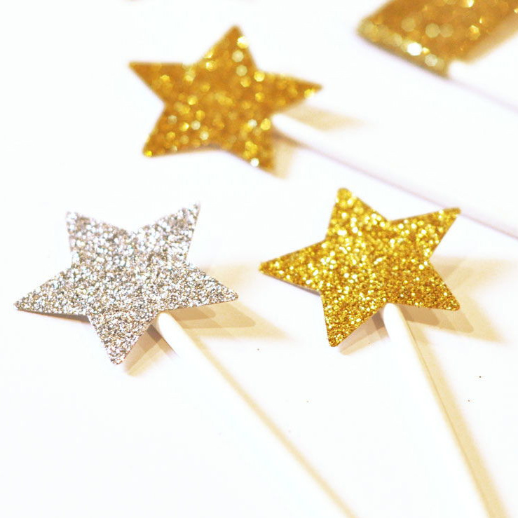 Mobile Phone Decoration Stars Glitter stickers