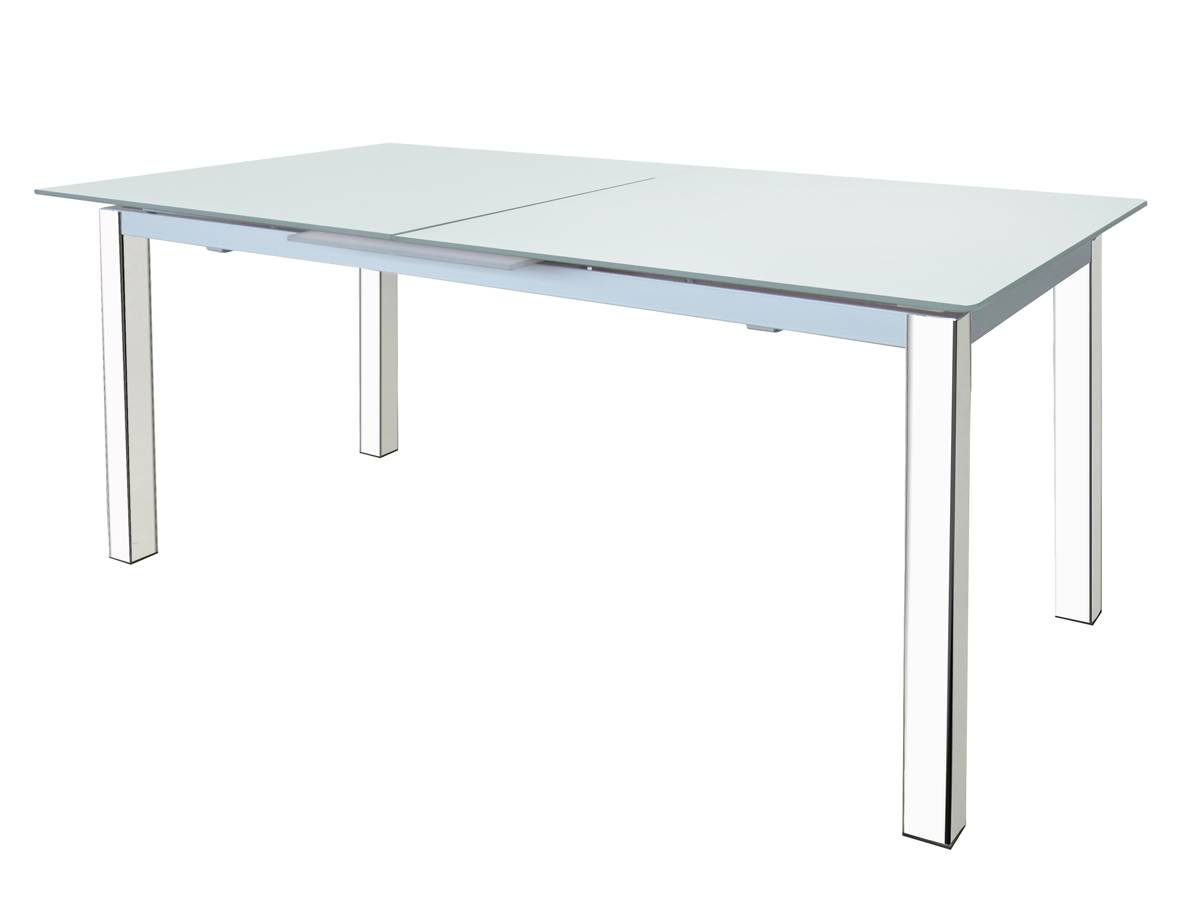 Extensible Dining Table with Tempered Glass