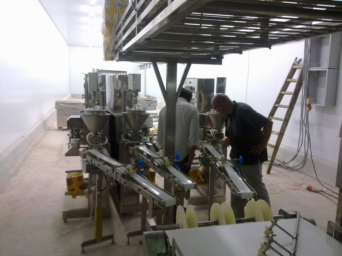 Imitation crab meat production line