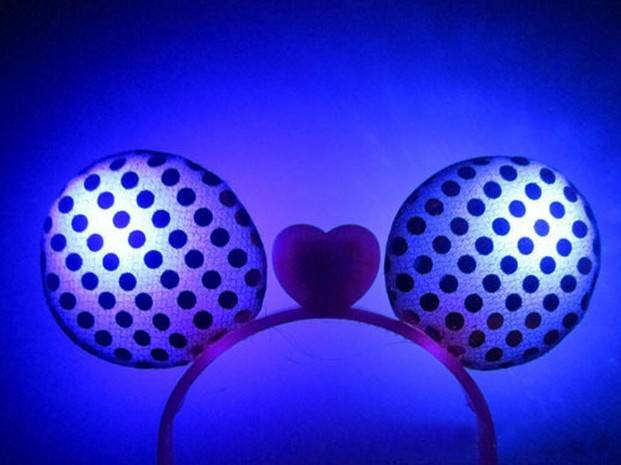 christmas toy mickey EAR head band antle christmas decor big size led luminous christmas