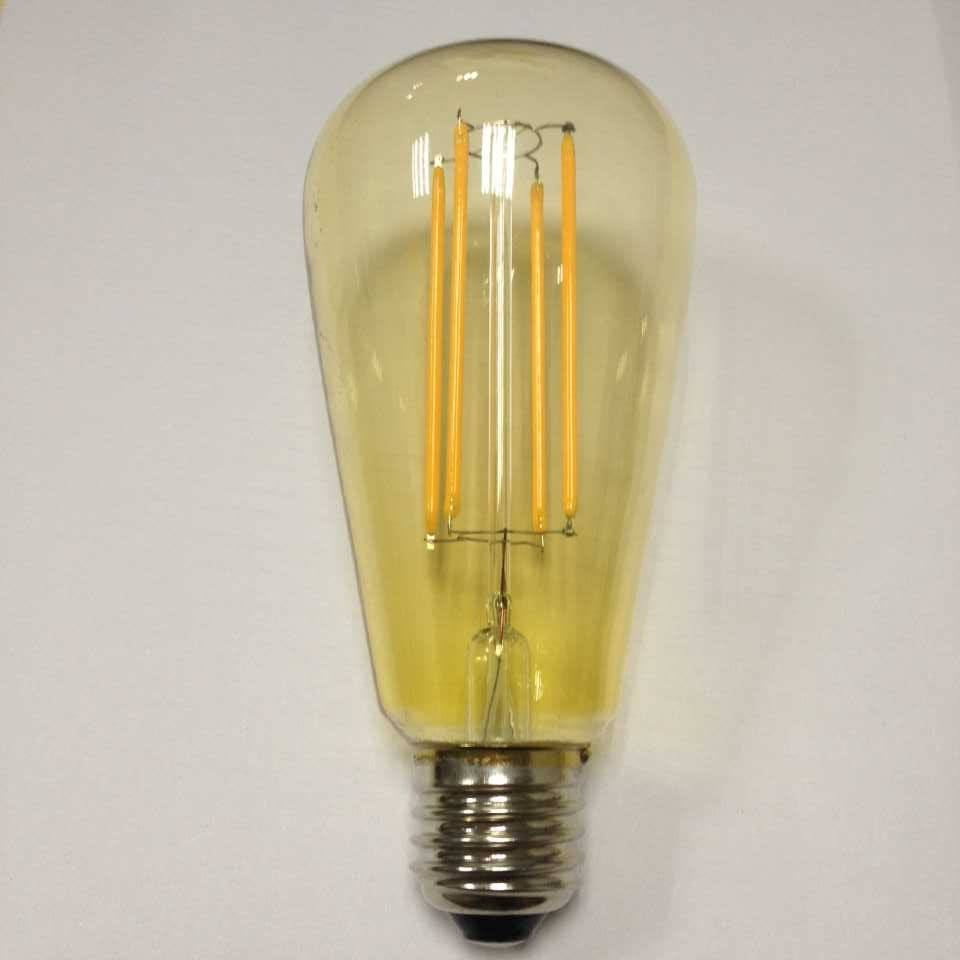 UL cUL ETL approved large squirrel cage led filament ST58 Edison gold tinted