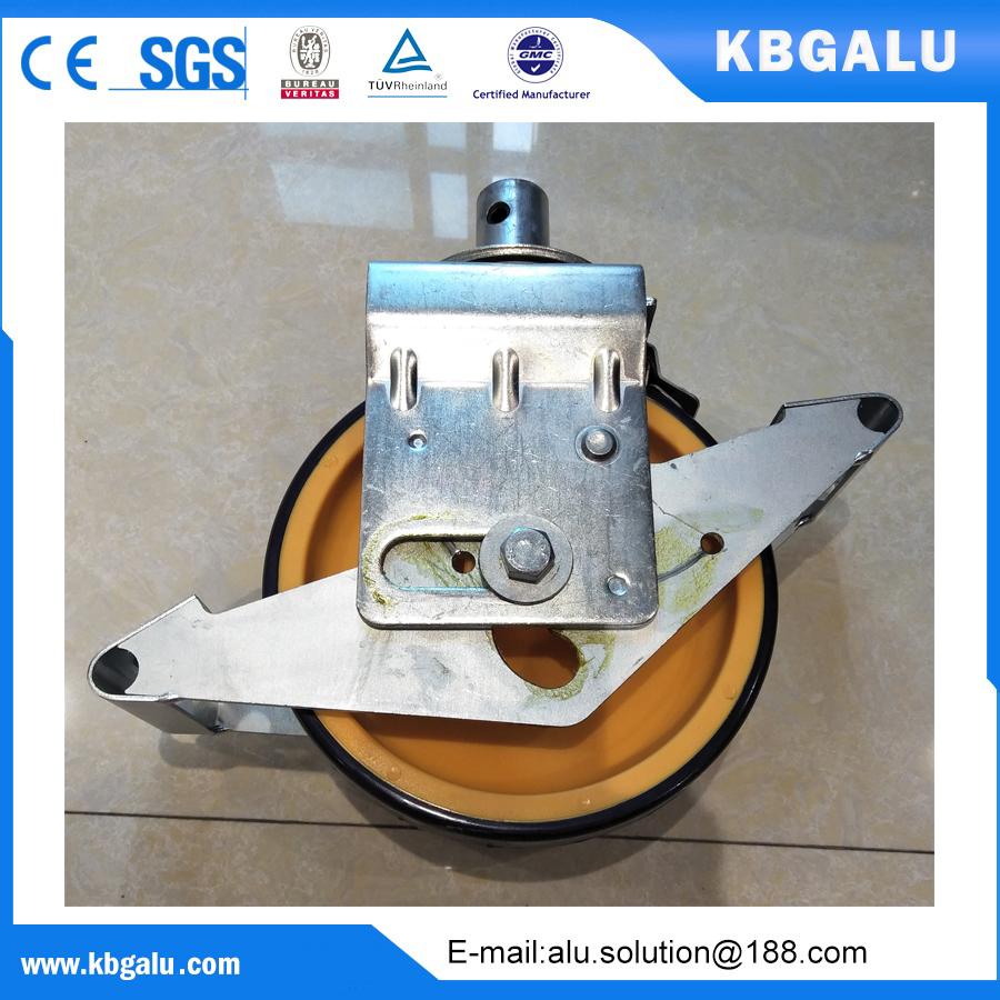 EN certified 8 inch castor wheel for aluminum scaffolding