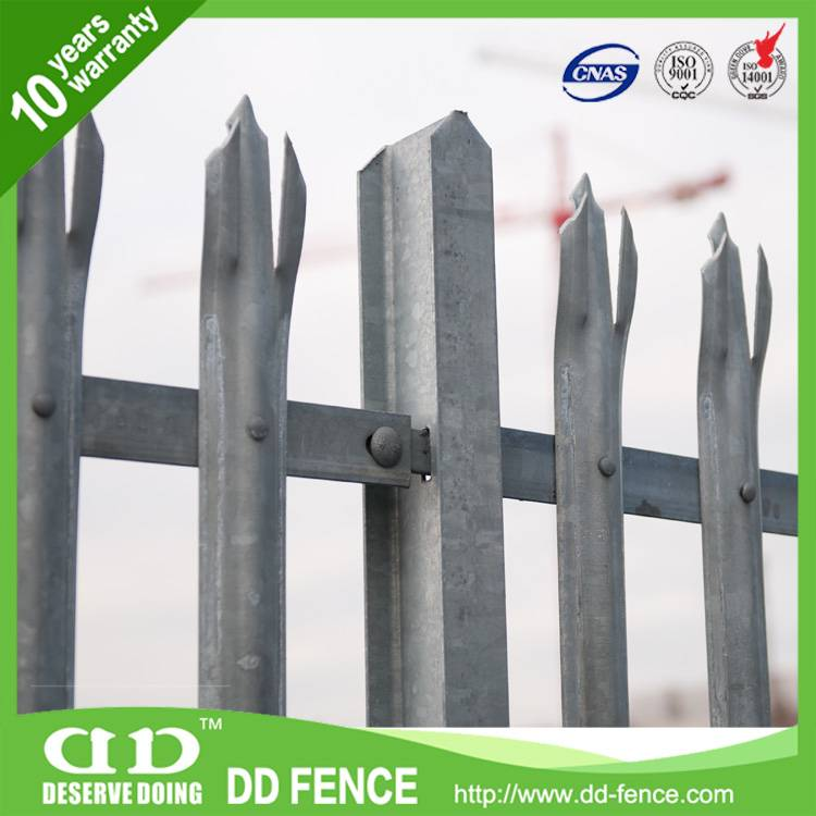 Galvanized high quality Triple Pointed Palisade Pales