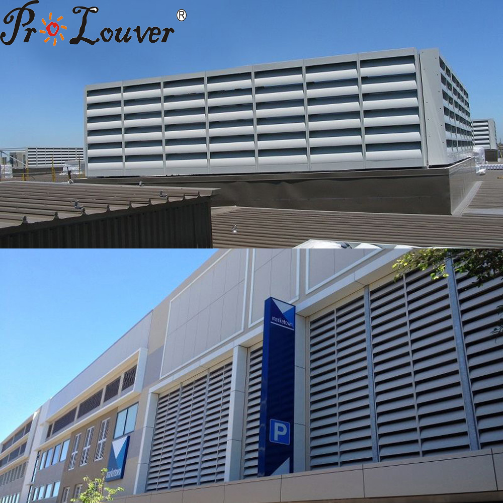 Aluminum Acoustic louver in Modern Building