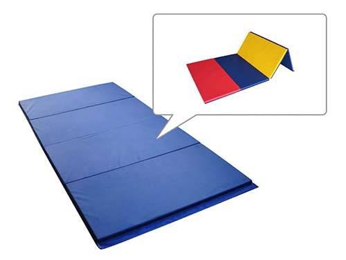 used 4'x8'four section foam folding gymnastics tumbling exercise mats