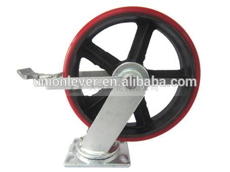 "10"" brake super heavy duty casters with 820kg capacity"
