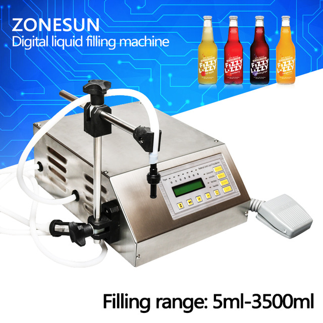 ZONESUN GFK-160 Digital Control Liquid Filling Machine /Small Portable Electric Liquid Water Filling