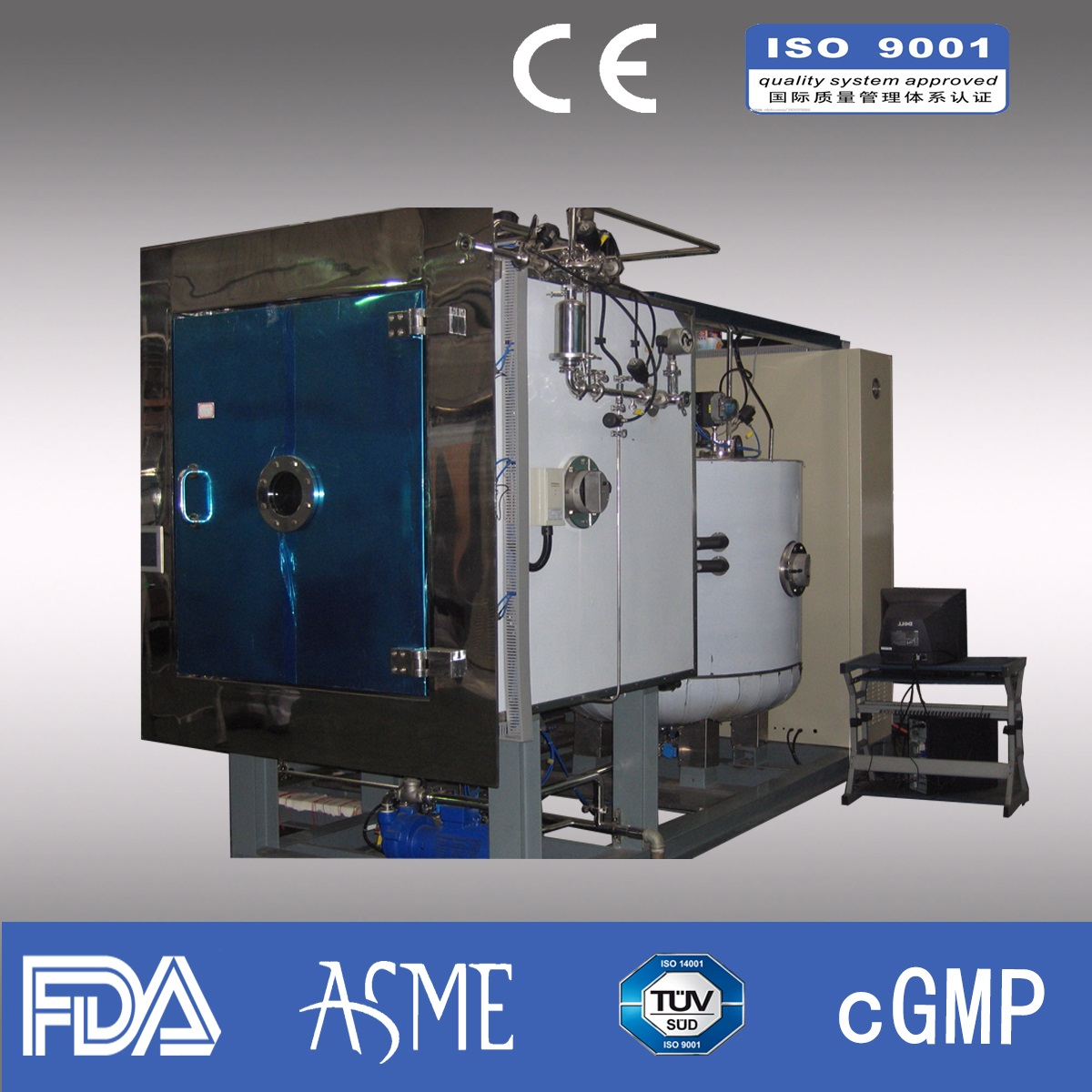 150kg/liter Industry Freeze dryer/ Pharmaceutical freeze dryer