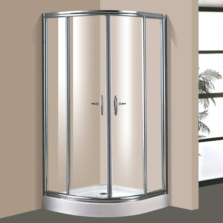 Tempered glass sliding shower room / steam shower room