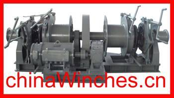combined electro hydraulic multi drum windlass and winch