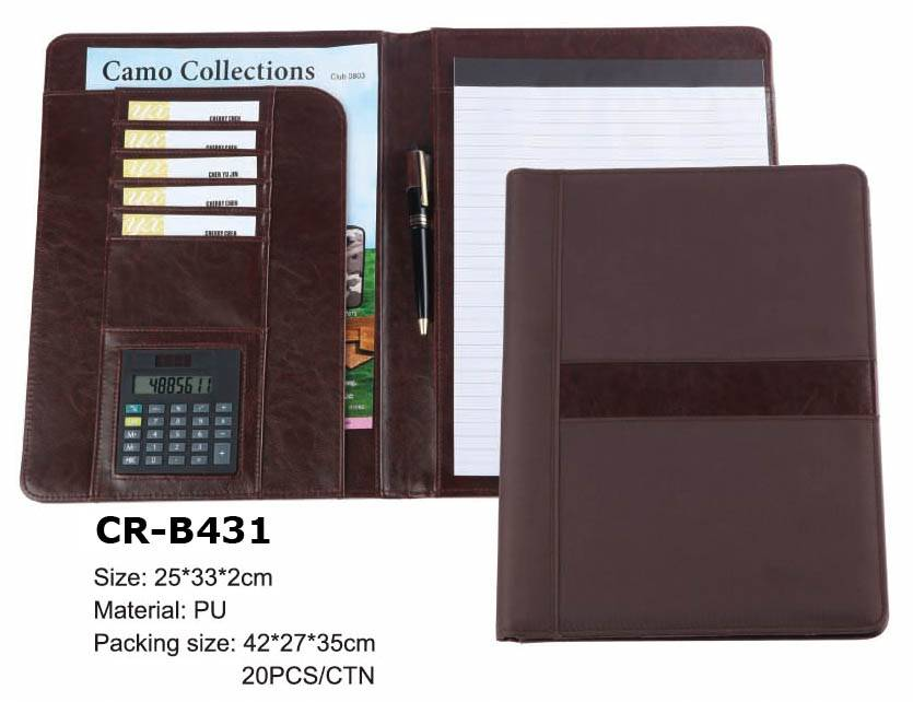 premium gifts popular top quality multifunction pu file holder